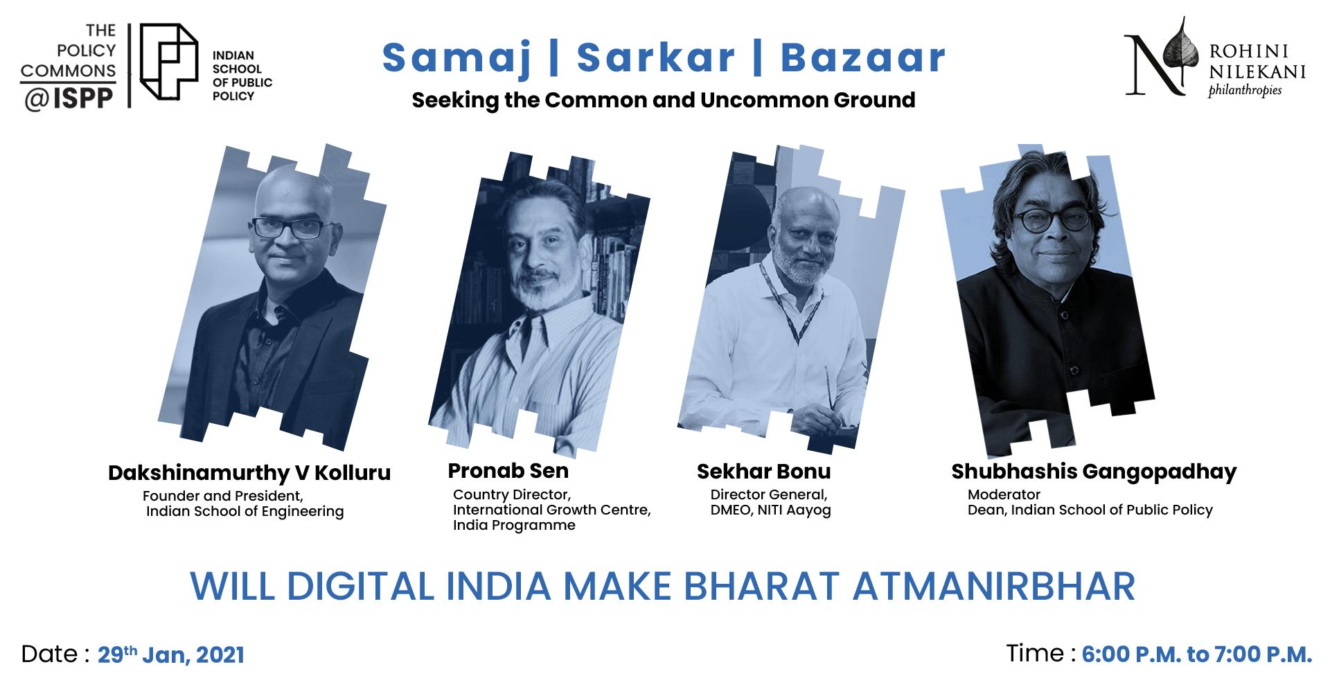 WILL DIGITAL INDIA MAKE BHARAT ATMANIRBHAR
