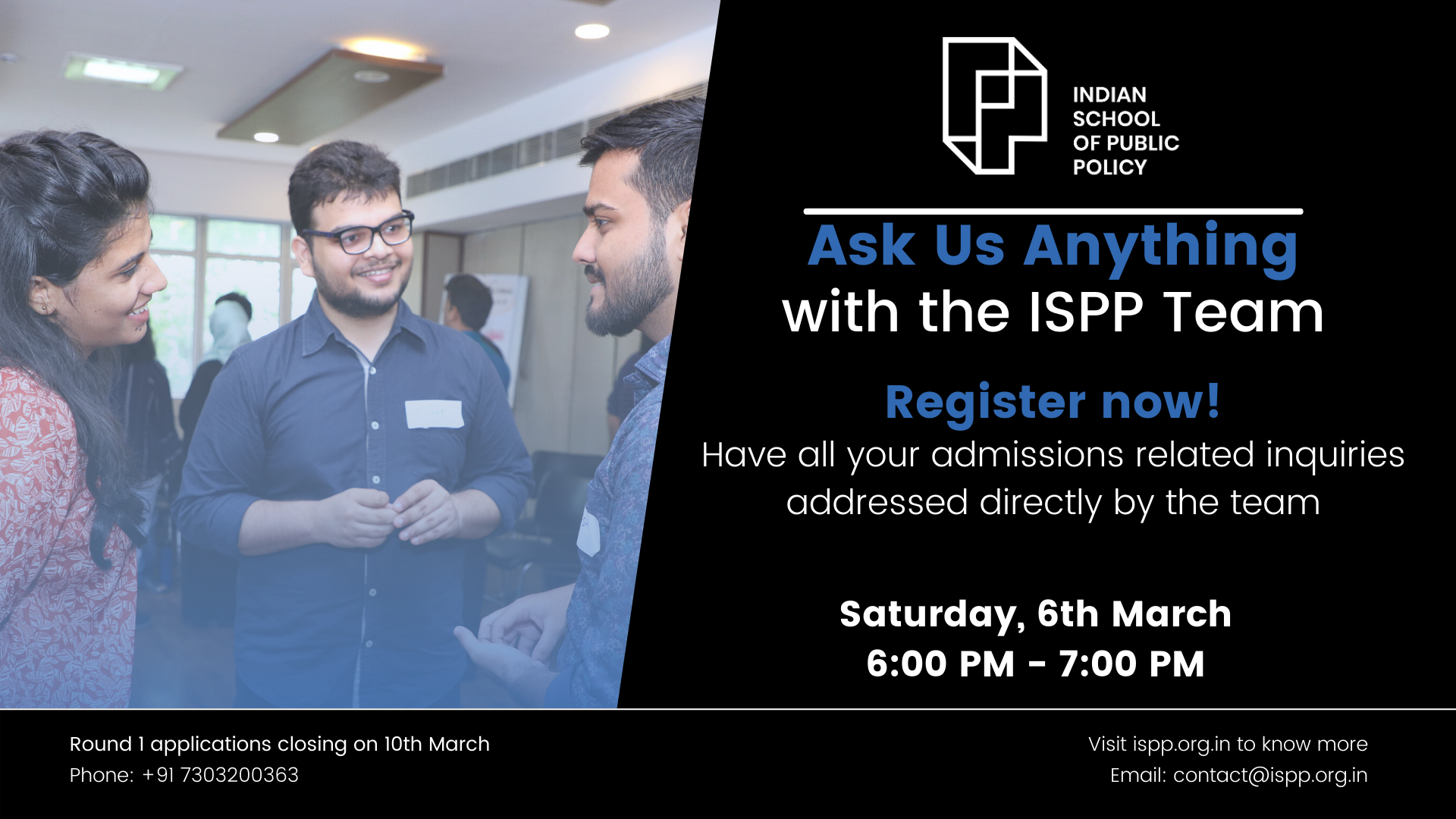 Ask Us Anything  |  Live Session with the ISPP Team