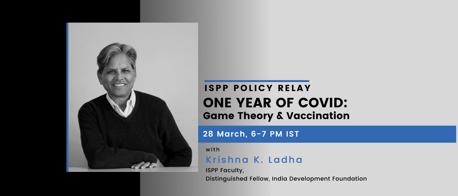 ISPP Policy Relay One Year of COVID-19: Game Theory & Vaccination