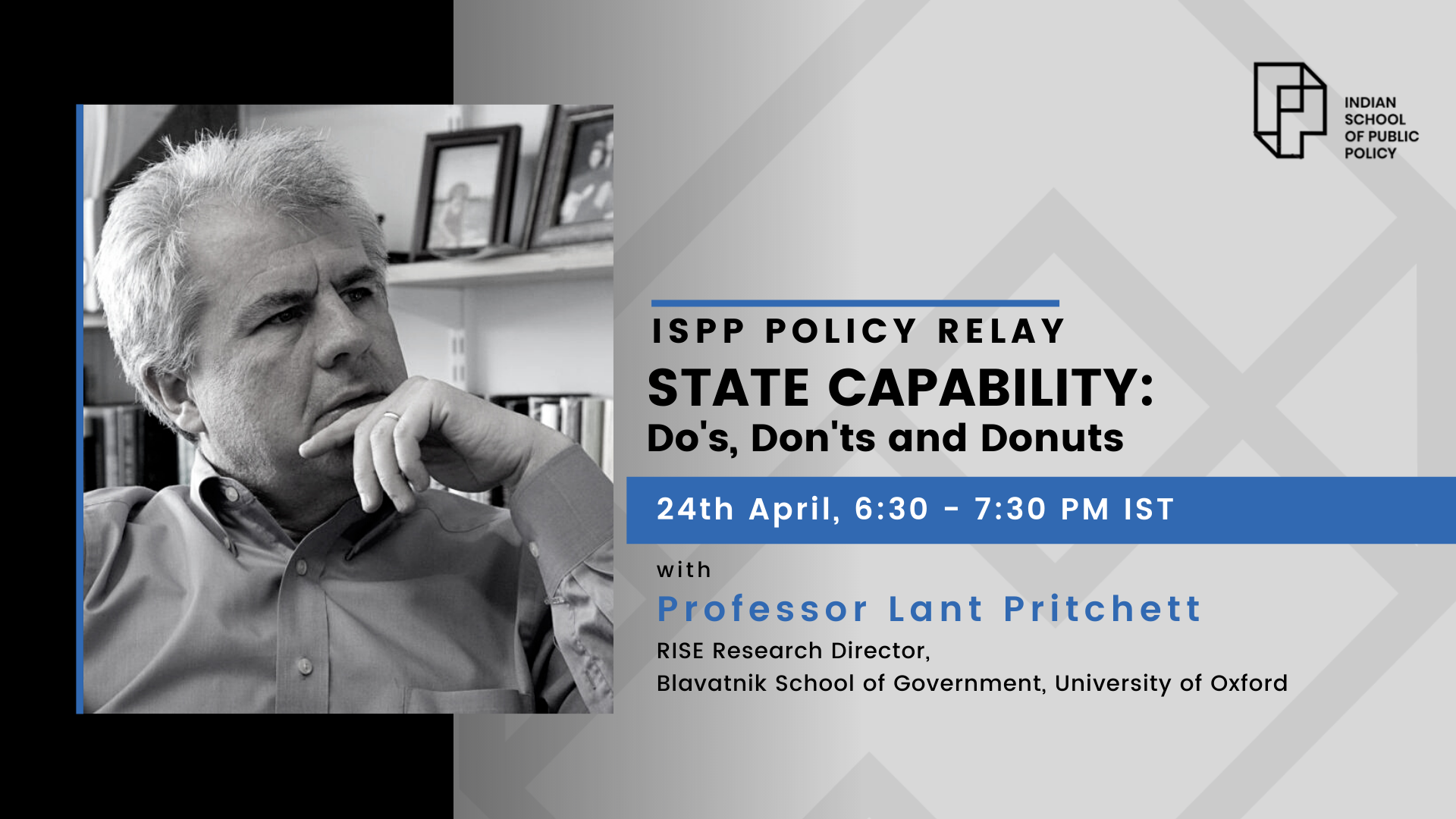 ISPP Policy Relay | State Capability: Do's, Do Not's and Donuts