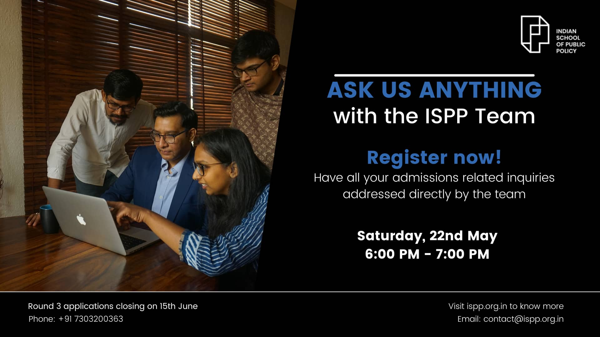 Ask Us Anything: Live Session with the ISPP Team