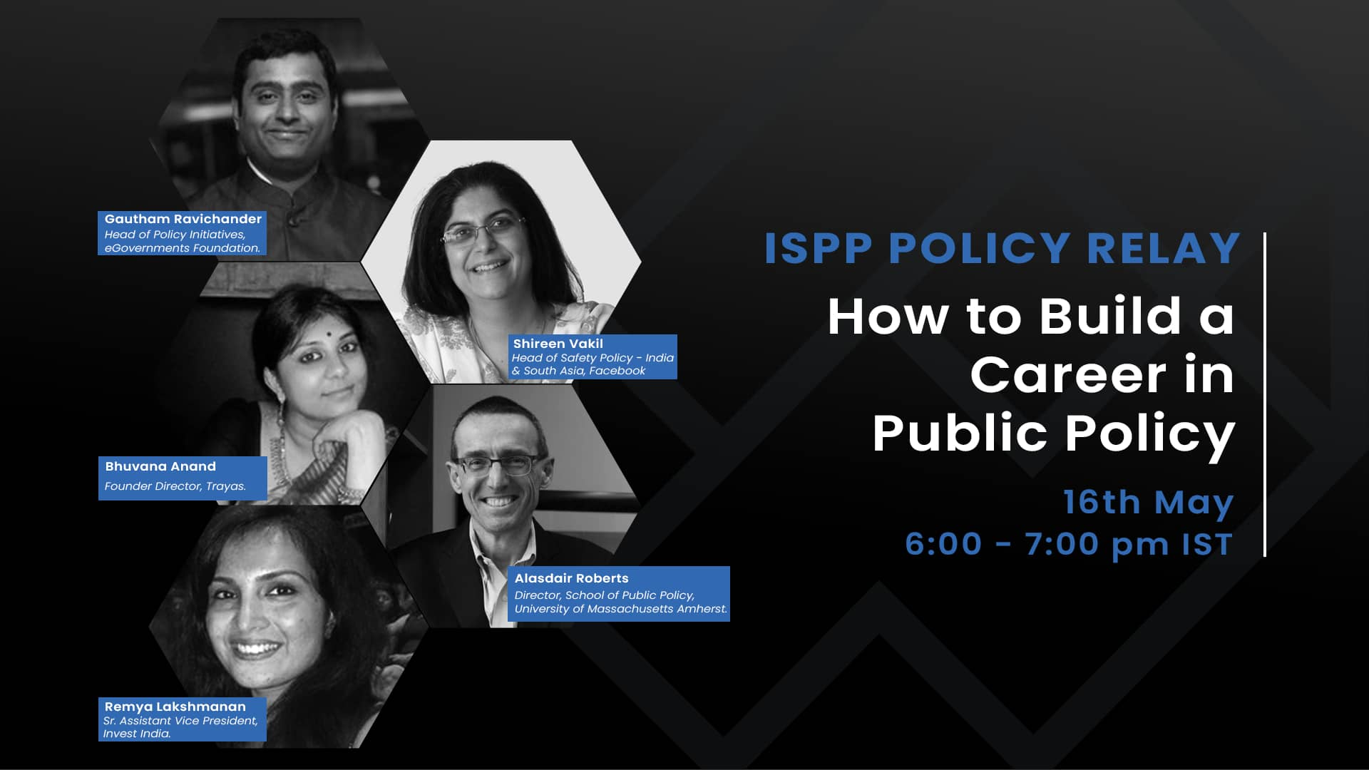 ISPP Policy Relay : How to build a career in Public Policy