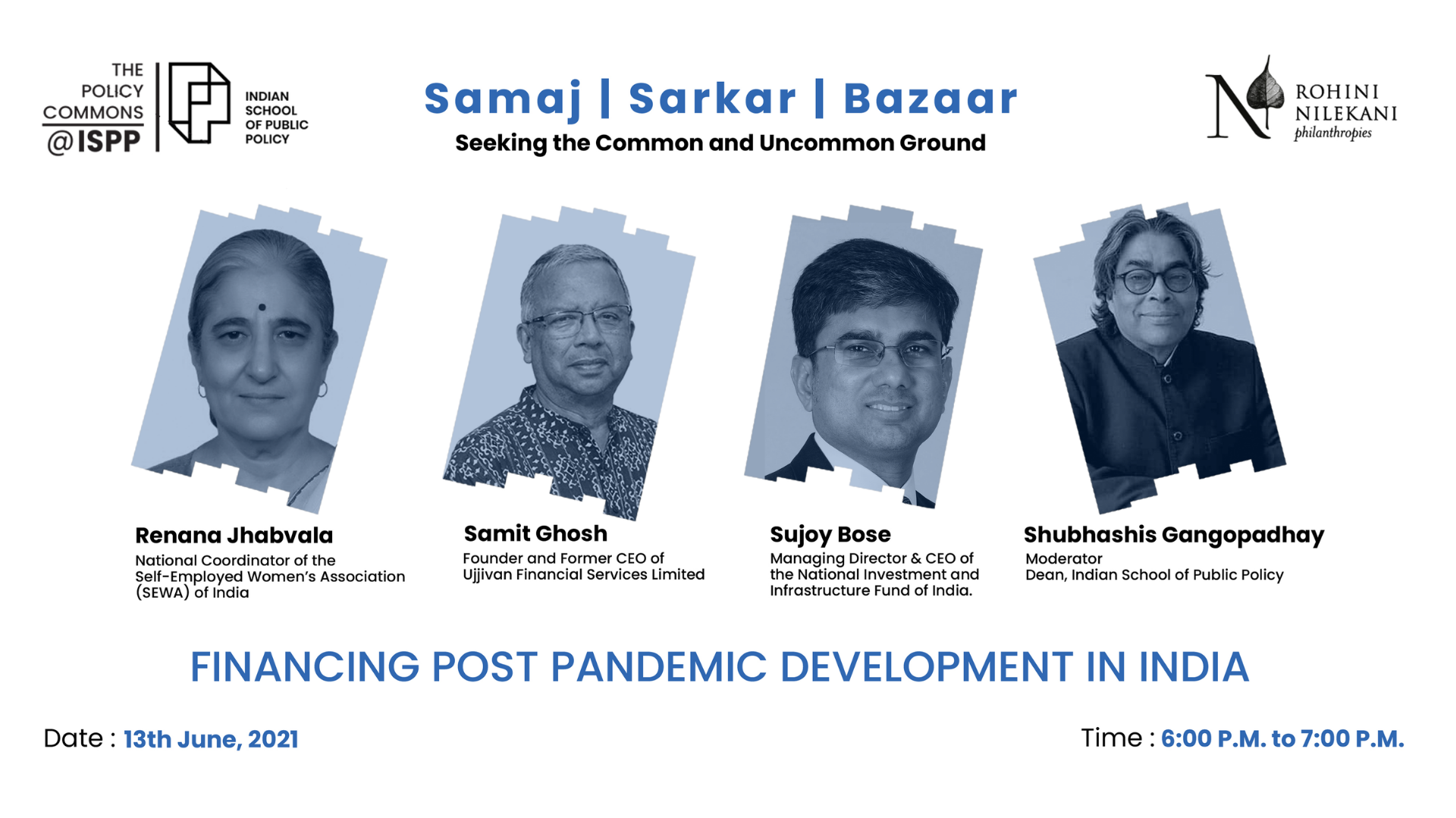 """ISPP Policy Commons, """"Financing Post Pandemic Development in India"""""""